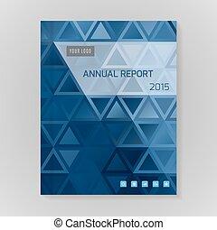 vecteur, annuel, couverture, rapport, illustration