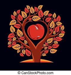 vecteur, arbre, br, illustration