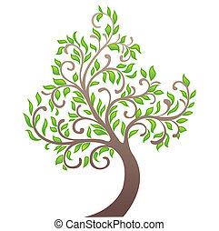 vecteur, arbre, illustration