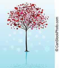 vecteur, arbre, noël, fond