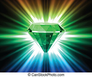 vecteur, arrière-plan., clair, diamant, coloré