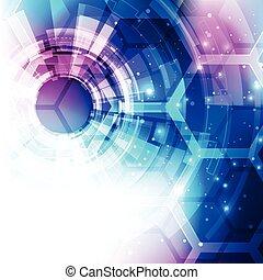 vecteur, arrière-plan., illustration numérique, résumé, technologie, futuriste