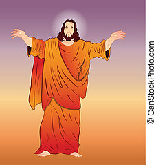 vecteur, art, christ, jésus