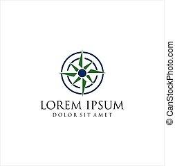 vecteur, art, simple, logo, agrafe, compas, icône