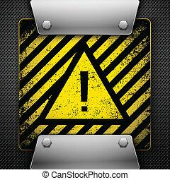 vecteur, avertissement, symbole., illustration.