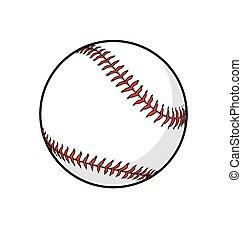 vecteur, base-ball, classique