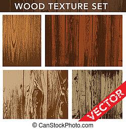 vecteur, bois, ensemble, texture
