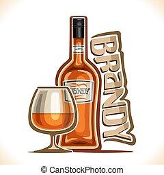 vecteur, boisson, alcool, illustration, cognac