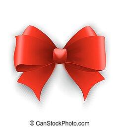 vecteur, bow., illustration, rouges