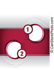 vecteur, brochure, concept, arrière-plan rouge