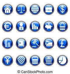 vecteur, buttons., finance, business