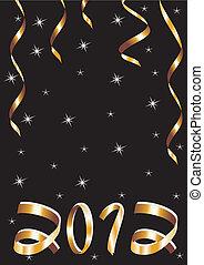 vecteur, carte, nouvel an, noël