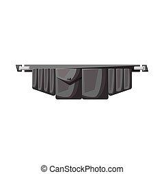 vecteur, ceinture, outillage, toolbag, stock., icône, objet, graphique, symbole., isolé
