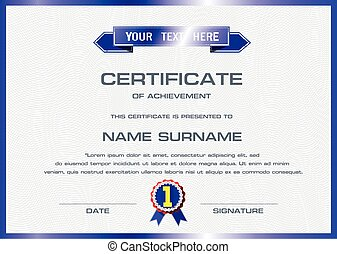 vecteur, certificat, gabarit