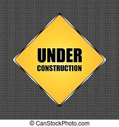 vecteur, chrome, métal, illustration, construction, arrière-plan grille, sous, conception