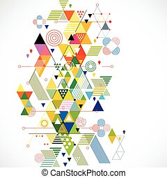 vecteur, coloré, résumé, illustration, créatif, fond, géométrique
