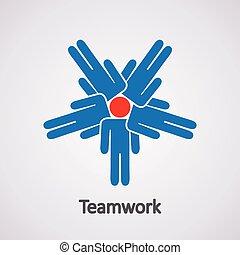 vecteur, concept, collaboration, icône