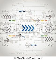 vecteur, concept, résumé, fond, avenir, technologie