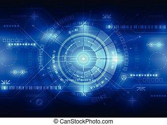 vecteur, concept, résumé, illustration, fond, avenir, technologie