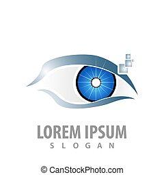 vecteur, concept, symbole, élément, graphique, gabarit, numérique, logo, eye., design.