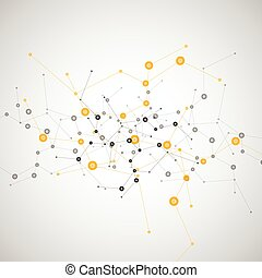 vecteur, conception, réseau