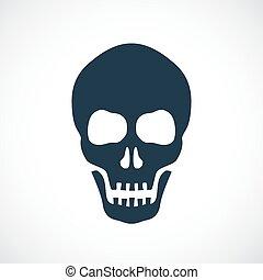 vecteur, crâne, icône