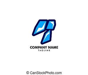 vecteur, cristal glace, logo, icône