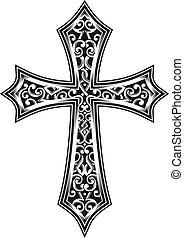 vecteur, croix