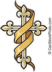 vecteur, croix, illustration