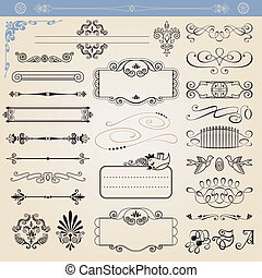 vecteur, décorations, calligraphic