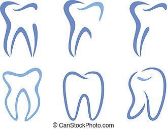 vecteur, dents