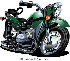 vecteur, dessin animé, motocyclette