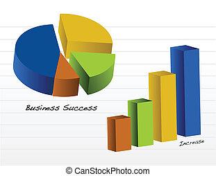 vecteur, diagrammes, business, /
