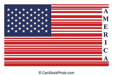 vecteur, drapeau etats-unis, barcode