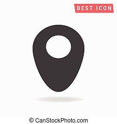 vecteur, emplacement, icône