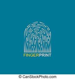vecteur, empreinte doigt, illustration, icône