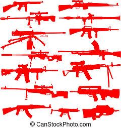 vecteur, ensemble, fusils