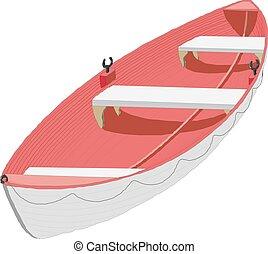 vecteur, eps10, bateau, illustration, icône