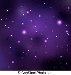 vecteur, espace, pourpre, résumé, galaxies, nebula., étoiles, lointain, planets., fond