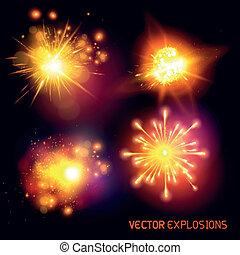 vecteur, explosions