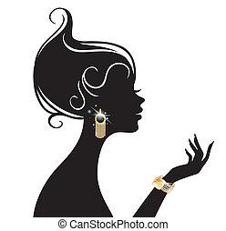 vecteur, femme, illustration, beauté