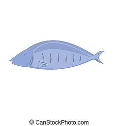 vecteur, fish, fond blanc, illustration