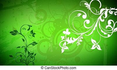 vecteur, fleurs, 2, boucle