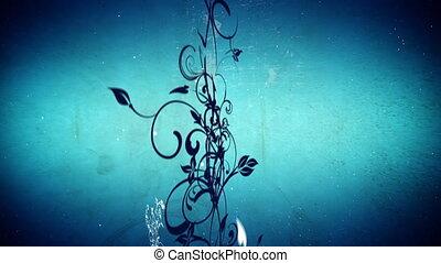 vecteur, fleurs, 5, boucle