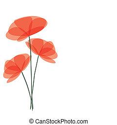vecteur, fleurs, fond
