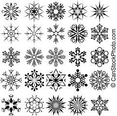 vecteur, flocon de neige, collection