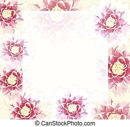 vecteur, flowers., eps10., fond, coloré