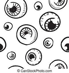 vecteur, fond, seamless, globe oculaire