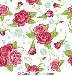vecteur, fond, seamless, rose