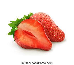vecteur, fraise, illustration
